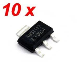 10 pcs AMS1117 3.3V 1A Voltage Regulator AMS1117-3.3V