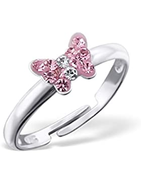 Liara - Kinder Schmetterling Ringe 925 Sterling Silber.Poliert und Nickel frei
