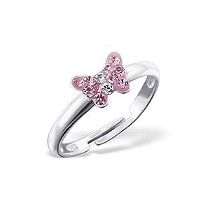 Liara Kinder Schmetterling Ring 925 Sterling Silber.Poliert und Nickelfrei