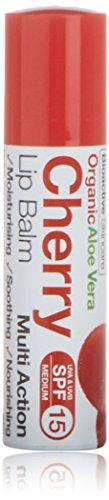Dr Organic Bálsamo de Labios, Aloe Vera y Cereza, 5.7 ml