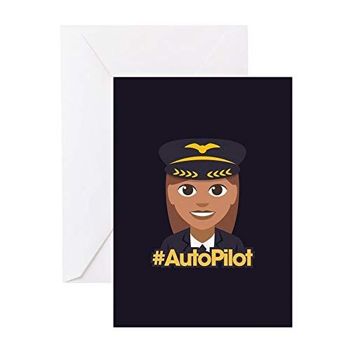 CafePress Hashtag Autopilot Grußkarte (20 Stück), Notizkarte mit blanko innen, Geburtstagskarte, glänzend - Autopilot-paket