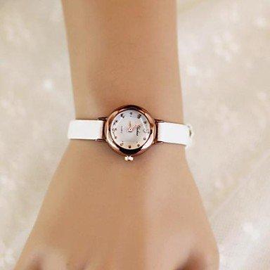 XKC-watches Herrenuhren, Frauenrund Candy Farbe Quarz Uhrenband (Verschiedene Farben) (Farbe : Weiß) Candy Tech