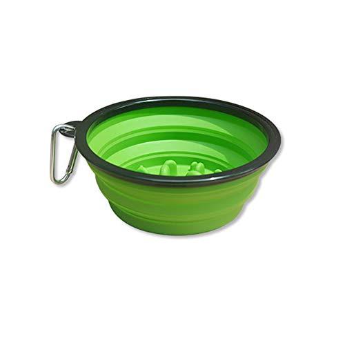 Feeder Anti-Choke Wasser Schüssel Für Katzen Hunde,Pet Slow Food Bowl Anhalten Anti-Schädel-Hundenapf Outdoor Portable Klappnapf Hund Katze Wasser Und Getreide Dual-Use-Topf ()