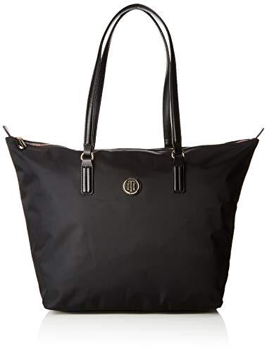 Tommy Hilfiger Damen Poppy Tote Stofftasche, Schwarz (Black), 14x32x47 cm (Tommy Handtasche Damen Hilfiger)