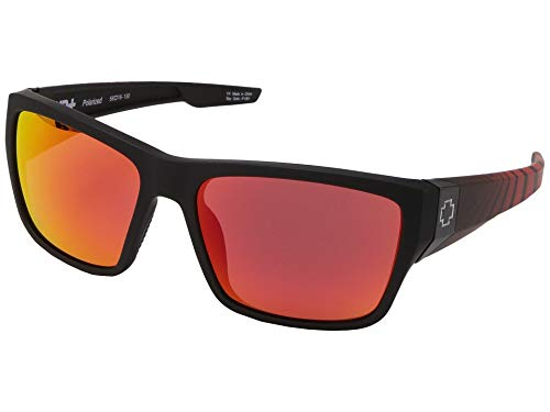 Spy Optic Dirty Mo 2 Wrap Sunglasses, Updated Classic Silhouette, 5 Barrel Hinges, HD+ Lens, Grilamid Lightweight Frame