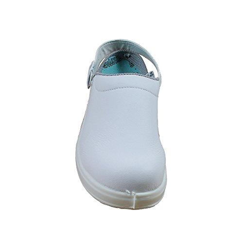 Ergos SBEA Sicherheitsschuhe Arbeitsschuhe Kochschuhe Laborschuhe Sandale weiss B-Ware Weiß