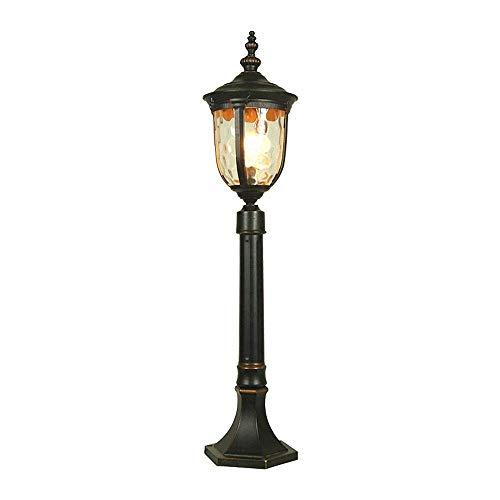 Dicai Tor Landschaft Straßenbeleuchtung Leuchte mit abgeschrägten klaren, antiken braunen Glassäulenpfosten Lampen viktorianischen Spalte Licht Laterne for Terrasse Veranda -