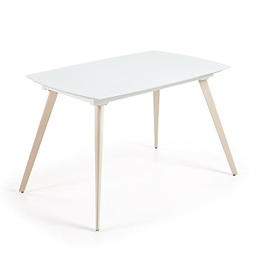 Kave Home Table Extensible Smoth, 120 cm Blanc