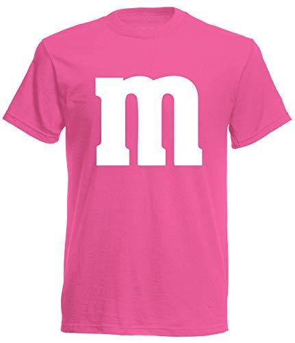 aprom T-Shirt Karneval M M Kostüm Gruppenkostüm Fasching JGA Party MM (L, Pink)