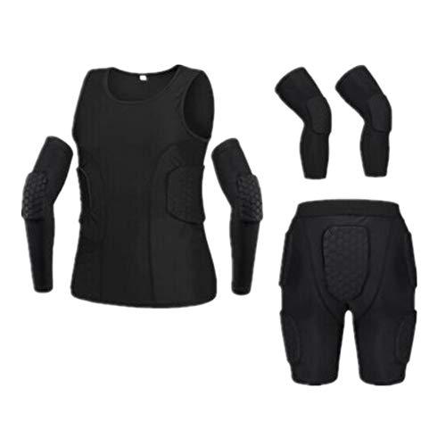 Mebeauty-sp Motorradschutzjacke Adult Football Basketball Knieschützer Ellenbogen Sport Kampf Schutzausrüstung Reiten bruchsicher Kleidung Rüstung Kleidung Anzug für Männer (Farbe : B, Größe : M)