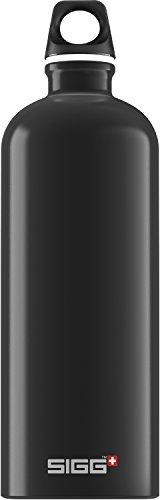 SIGG Traveller Black,Trinkflasche, 1 L, BPA Frei, Aluminium, Schwarz -