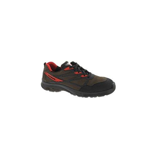 Manitou - Chaussures de sécurité basse MAGNUM S3 SRC - Manitou Marron / Rouge