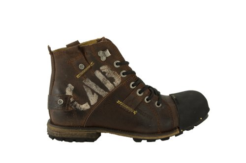 Yellow Cab INDUSTRIAL M, Herren Biker Boots, Braun (Dark brown), 44 EU