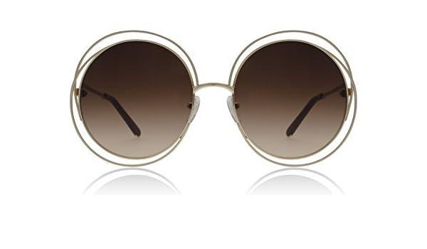 03cf35b08c Chloe Men's Ce114S 784 Rose Gold Brown Carlina Round Sunglasses Lens ...