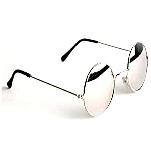 Eyevy UV Protected Round Unisex Sunglasses (RND001|Silver)