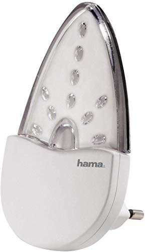 Hama LED Nachtlicht, stromsparendes Orientierungslicht und Stimmungslicht, Bernstein, Nachtlampe, nur 0,2 W, Eurostecker
