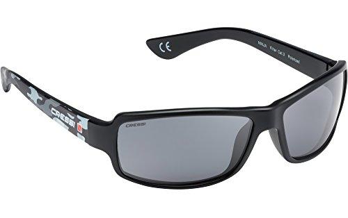 Cressi Swim Erwachsene Ninja Sunglasses Sonnenbrille, Camou/Linsen Grau, One Size