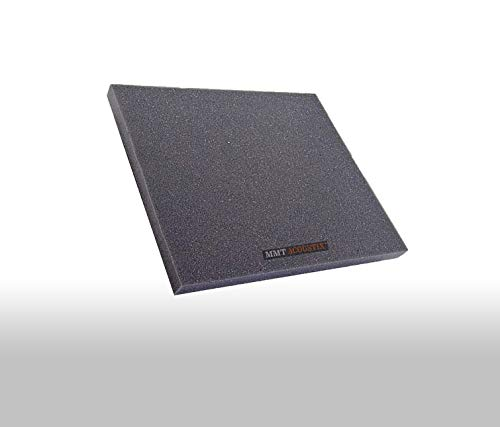 "MMT Acoustix® Sound Insulation Pad, 3 x 3 Feet, 1"", Charcoal, NRC>0.80, ARAI (Set of 2)"