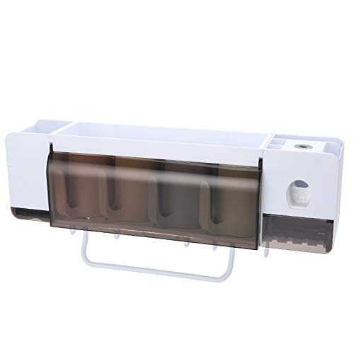 oppinty Wäscheständer Hause Badezimmer zahnbürste zahnbürste zahnbürste zahnstange Set multifunktionsgestelle Becher weiß + transparent schwarz