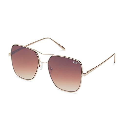 Quay Australia Damen Sonnenbrille STOP AND STARE sunglasses gold/brown