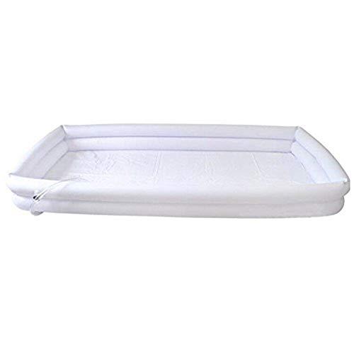 Vasca da bagno gonfiabile per adulti medica in pvc, vasca da bagno a letto assistita, pompa a pedale con cuscino, sacca d'acqua a sprinkler, per infortunio, portatori di handicap, anziani