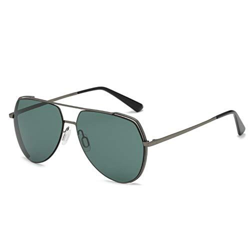 GOLDT1 Militärstil Sonnenbrille Flieger Sonnenbrille Casual Sport Sonnenbrille super leichte Männer Fahren im Freien, 100% UV-Schutz (Size : Black Frame Dark Green Lens)