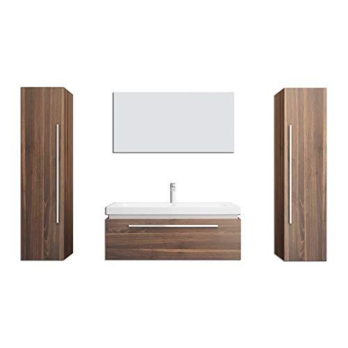 Home Deluxe - Badmöbel-Set - Baltrum - inkl. Waschbecken und komplettem Zubehör