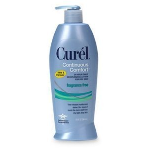 Curel Continuous Comfort 24-Hour Daily Moisturizing Lotion for Dry Skin, Fragrance Free, 13-Ounce Dispenser (Pack of 3) by Curel