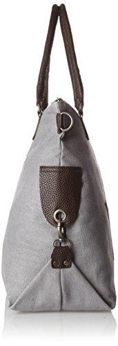 Bags4Less - F3151, Borsa a tracolla Donna Grigio (Hellgrau)