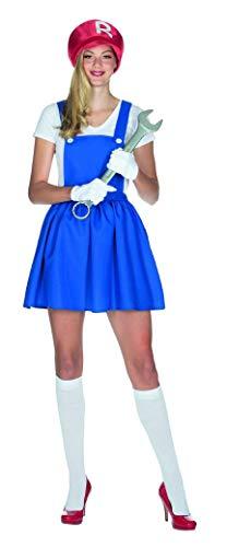 Super Racer Girl Kostüm Größe 42 Damen Mechanikerin Kart Karneval Klempnerin