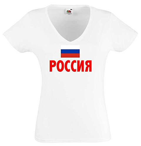 world-of-shirt ?????? / Russland Damen T-Shirt Trikot|M