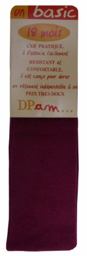 DPAM - Collants - Fille rouge bordeaux 12 mois