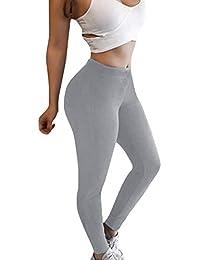 ShallGood Leggings Femme Skinny Fitness Yoga Pantalons Athlétiques Pantalon  Jogging Casual Sports Taille Haute Trousers Jeans d33d2fbea9a