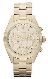 DKNY NY8514 UNISEX GOLD PLATED STAINLESS STEEL MINERAL WATCH