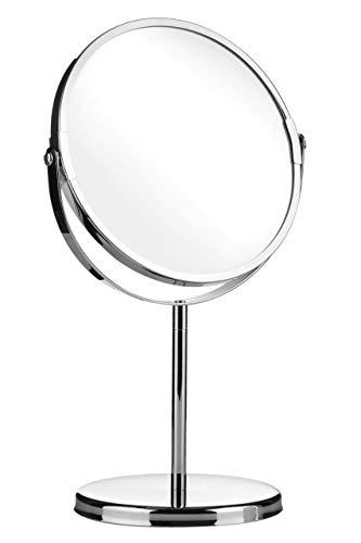 Premier Housewares - Espejo ovalado con soporte, color cromo