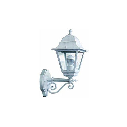 LANTERNA da GIARDINO a Parete per esterni Mod. CHIC ALTA Bianco Argento (Esterno Montaggio A Parete Lanterna)