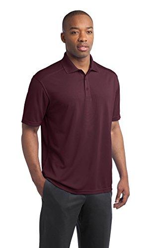 sport-tek Herren 's Active Strukturierte Polo Sport Shirt Rot - Maroon
