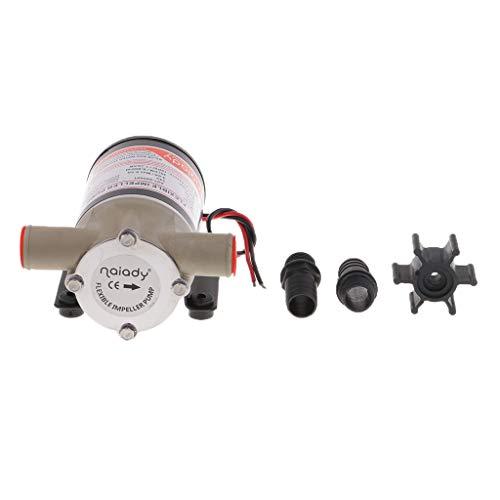 D DOLITY 1 Stück 24V Impeller Wasserpumpe 24v 8 Gpm 30 Lpm Selbstansaugende Zentrifugal Laufrad Bilge Pumpe (Gpm Motor)