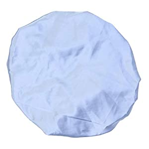 Artibetter Schlafmütze mit Satinmütze Schlafmütze Kordelzug Nachtmütze (Blau)