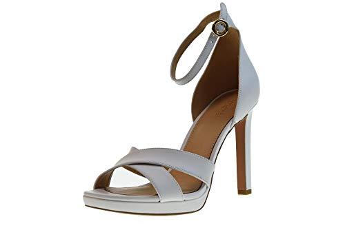 Michael Kors Scarpe Sandali Tacco Donna Alexia Sandal Leather Optic White Pelle