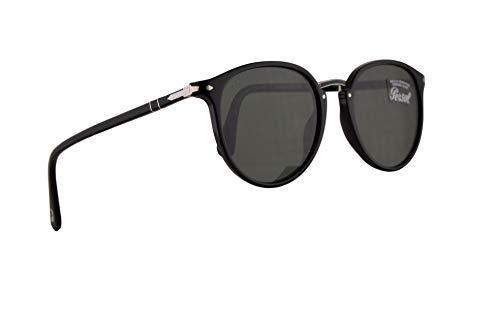 Persol 3210-S Sonnenbrille Schwarz Mit Mit Grünen Gläsern 54mm 9531 PO 3210S PO 3210S PO3210S