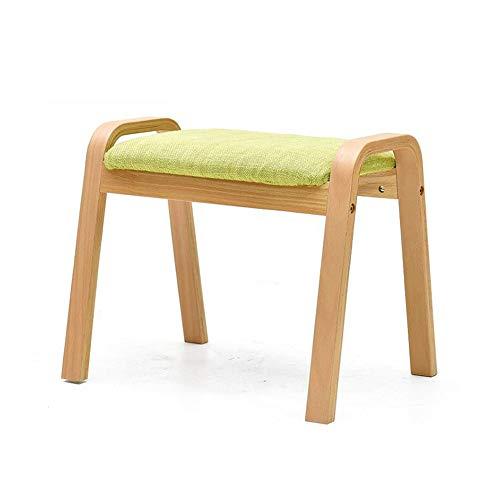 Möbelsets-LX Hölzerner Schemel, quadratische Sitz-kompakte Schuh-Bank Osman füllte Sitzsofa-Feste hölzerne kleine Bank -