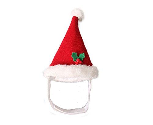 BbearT® Weihnachtsmütze für Katzen, Hund, Hamster, für Welpen, Katzen, Halloween, Urlaubszubehör