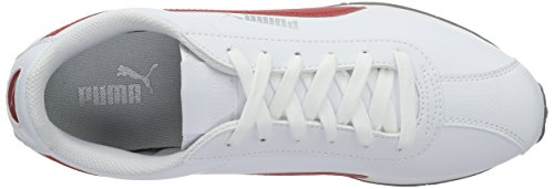 Puma Puma Turin, Sneakers basses mixte adulte Blanc (Puma White-barbados Cherry 15)