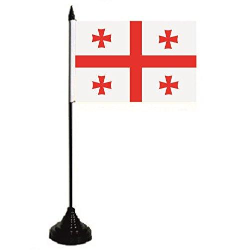 U24 Tischflagge Georgien Fahne Flagge Tischfahne 10 x 15 cm