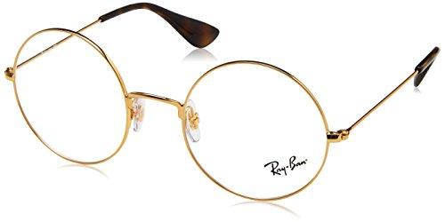 Ray-Ban Unisex-Erwachsene 0RX 6392 2969 50 Brillengestelle, Gold,
