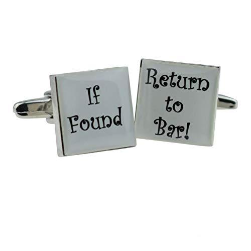 Ashton and Finch Wenn gefunden, kehren Sie zu den Bar-Manschettenknöpfen mit Geschenkbox zurück