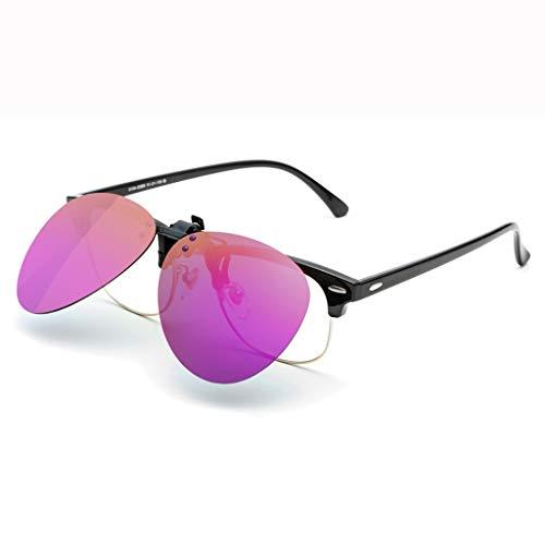 LQ Herrenbrille Versace UV-Schutz Sonnenbrille, Sonnenbrille Clip Sonnenbrille, Herren Multi-Color optional beschichtete Gläser (Farbe : F)