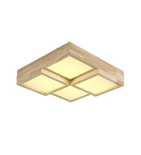 MinMin Deckenleuchte - LED-Decke mit modernen minimalistischen Schlafzimmer Balkon Wohnzimmer Esszimmer Den Creative Cube Holzdeckenleuchte Leuchter (Size : 4head) -