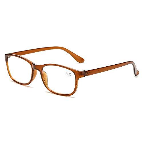 BAIYI Lesebrille, komfortable Lesebrille, HD-Harz, altmodische Brille,A,2.0